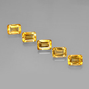 5.58 ct total Natural Yellow Golden Citrine