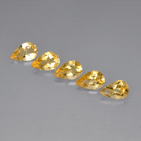 Buy 3.55 ct Yellow Golden Citrine 8.01 mm x 5.1 mm from GemSelect (Product ID: 296635)