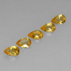 0.6ct Pear Facet Yellow Golden Citrine Gem (ID: 312383)