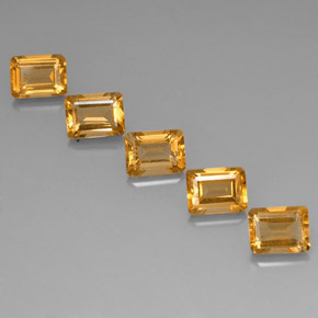 Golden Citrine Gem - 1.6ct Octagon Facet (ID: 323826)