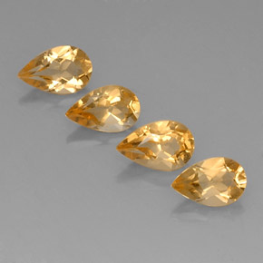 0.8ct Pear Facet Yellow Golden Citrine Gem (ID: 327564)