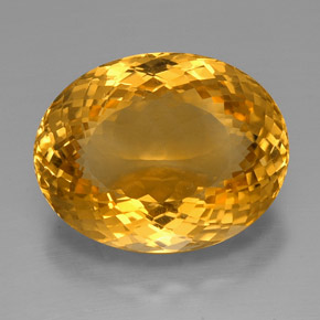 39.85 ct Oval Portuguese-Cut Yellow Golden Citrine Gemstone 25.18 mm x 19.7 mm (Product ID: 331398)