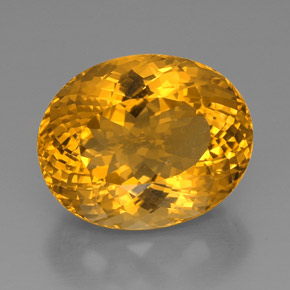 thumb image of 36.9ct Oval Portuguese-Cut Yellow Golden Citrine (ID: 331399)