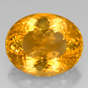 40.53 ct Oval Portuguese-Cut Yellow Golden Citrine Gemstone 24.82 mm x 20.4 mm (Product ID: 331492)