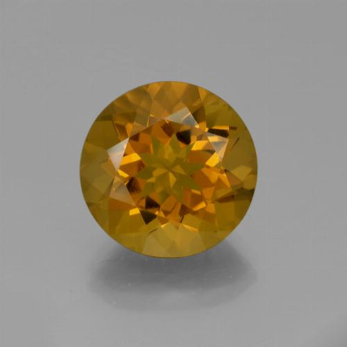 Marrón-oro Citrina Gema - 8.9ct Faceta Redonda (ID: 339640)