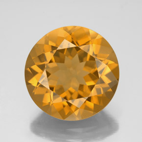 Medium Orange Citrina Gema - 8ct Faceta Redonda (ID: 340002)