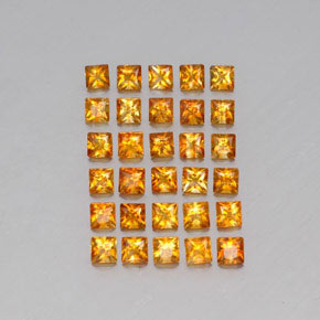 Yellow Golden Citrine Gem - 0.1ct Princess-Cut (ID: 341344)