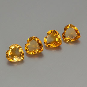 1ct Heart Facet Yellow Golden Citrine Gem (ID: 355991)