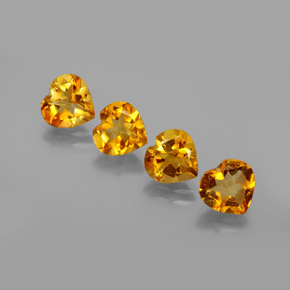 thumb image of 1ct Heart Facet Yellow Golden Citrine (ID: 356405)