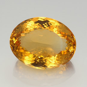 38.60 ct Oval Portuguese-Cut Yellow Golden Citrine Gemstone 24.29 mm x 18.9 mm (Product ID: 358480)