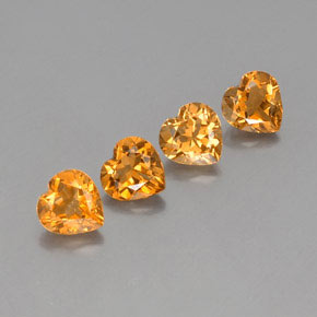 thumb image of 1.1ct Heart Facet Yellow Golden Citrine (ID: 359061)