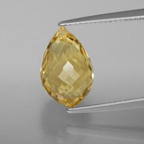 Light Brownish Golden Citrino Gem - 5.6ct Taglio briolette con foro (ID: 367823)