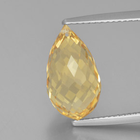 thumb image of 6.1ct Briolette with Hole Yellow Golden Citrine (ID: 367988)