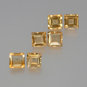 1ct Square Facet Yellow Golden Citrine Gem (ID: 371503)