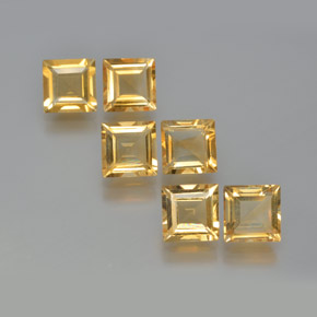thumb image of 1ct Square Facet Yellow Golden Citrine (ID: 371634)