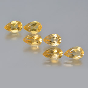 thumb image of 4.4ct Pear Facet Yellow Golden Citrine (ID: 371691)