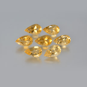 thumb image of 5.8ct Pear Facet Yellow Golden Citrine (ID: 371693)