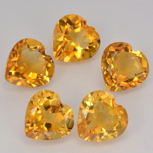thumb image of 1.1ct Heart Facet Yellow Golden Citrine (ID: 371749)