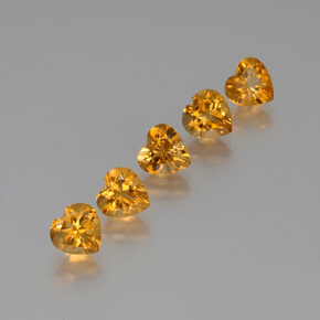 thumb image of 1.1ct Heart Facet Yellow Golden Citrine (ID: 371791)