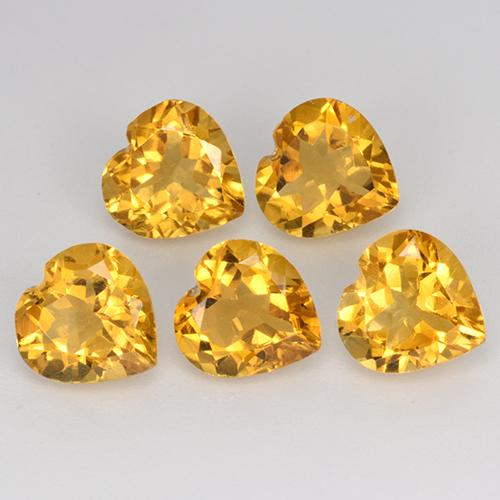 thumb image of 5.4ct Heart Facet Yellow Golden Citrine (ID: 371796)