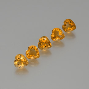 Yellow Golden Citrine Gem - 1.1ct Heart Facet (ID: 371798)