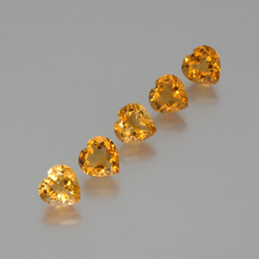 thumb image of 1.2ct Heart Facet Yellow Golden Citrine (ID: 371802)