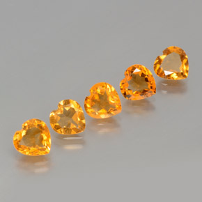 thumb image of 0.9ct Heart Facet Yellow Golden Citrine (ID: 371886)