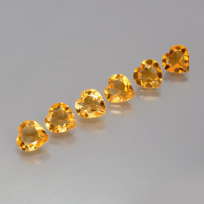 thumb image of 0.9ct Heart Facet Yellow Golden Citrine (ID: 371891)