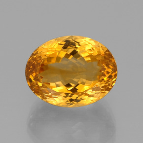 16.6ct Ovale facette Deep Orange-Gold Citrine gemme (ID: 396447)