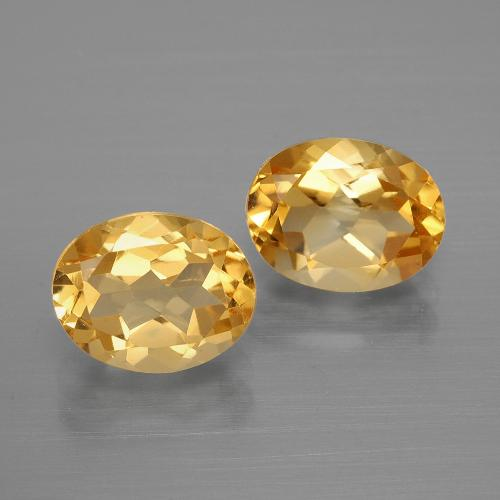 1.9ct Ovale facette Medium-Light Orange-Gold Citrine gemme (ID: 396896)