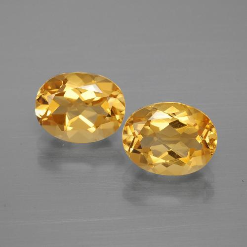 Yellow Golden Citrine Gem - 1.8ct Oval Facet (ID: 396899)