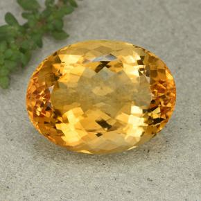Yellow Citrine Gem - 29.1ct Oval Facet (ID: 396925)