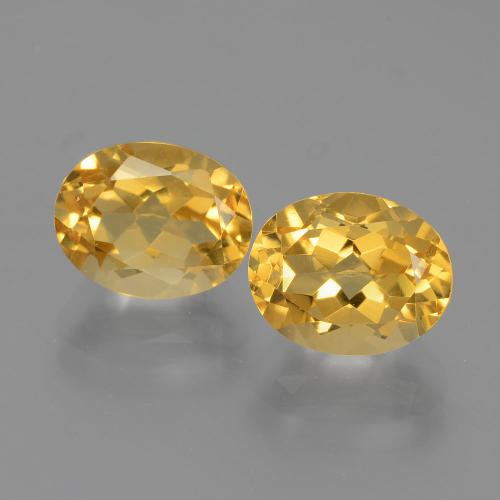 2.3ct Ovale facette Medium Gold Citrine gemme (ID: 397086)