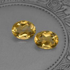 Yellow Golden Citrine Gem - 1.8ct Oval Facet (ID: 397095)