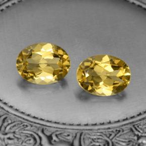 Yellow Golden Citrine Gem - 1.9ct Oval Facet (ID: 397096)
