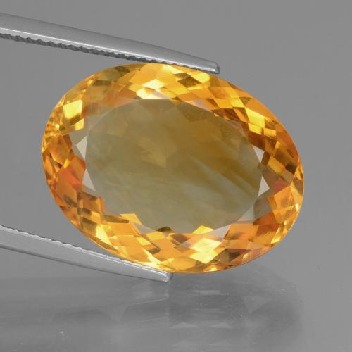 16.50 ct Forma ovalada Deep Orange-Gold Citrina Piedra Preciosa 20.86 mm x 15.8 mm (ID del producto: 397306)