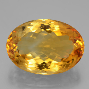 20.5ct Oval Facet Yellow Golden Citrine Gem (ID: 397367)