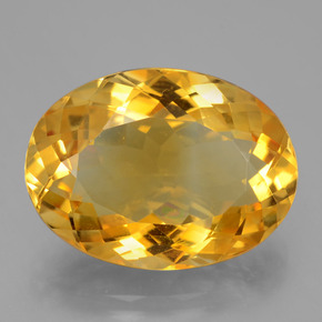 16.6ct وجه بيضاوى Deep Golden Orange سيترين حجر كريم (ID: 397368)