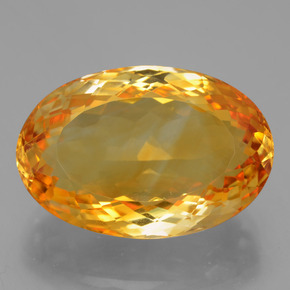 20.82 ct Oval Facet Yellow Golden Citrine Gemstone 21.71 mm x 14.6 mm (Product ID: 397373)