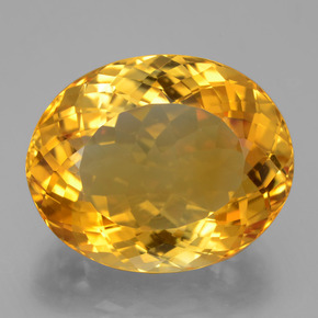 21.65 ct Ovale taille Portugaise Deep Orange-Gold Citrine gemme 20.37 mm x 16.6 mm (Photo A)