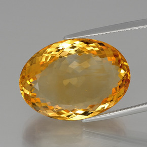 31.9ct Oval Facet Yellow Golden Citrine Gem (ID: 397541)
