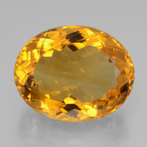 23.96 ct Oval Facet Yellow Golden Citrine Gem 21.04 mm x 16.9 mm (Photo A)