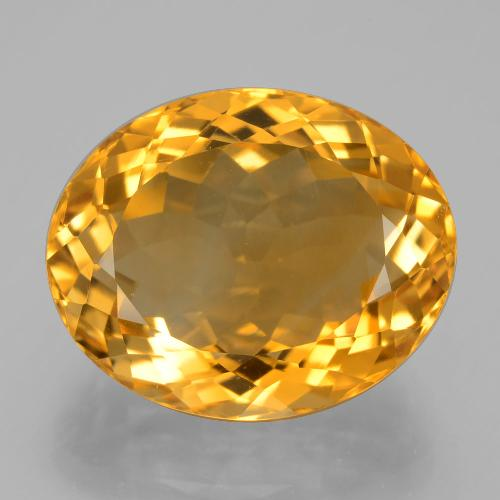 14.3ct Ovale facette Deep Orange-Gold Citrine gemme (ID: 397628)