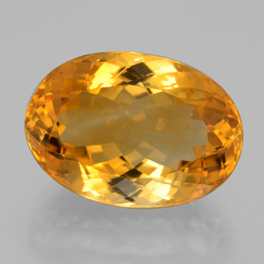 Deep Orange-Gold Citrine Gem - 15.1ct Oval Facet (ID: 397631)