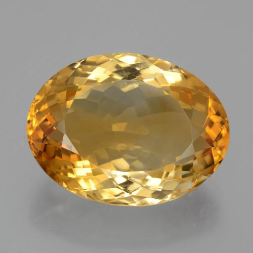 13.4ct Ovale facette Deep Golden Orange Citrine gemme (ID: 397648)