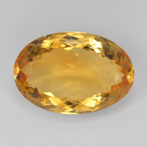 11.8ct Ovale facette Deep Golden Orange Citrine gemme (ID: 397716)