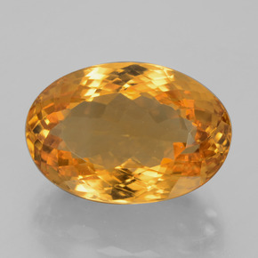 13ct Ovale facette Deep Orange-Gold Citrine gemme (ID: 397736)