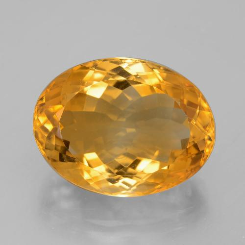 13.8ct Oval Facet Dark Orange-Gold Citrine Gem (ID: 397737)