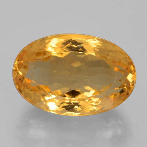 16.8ct Oval Facet Dark Orange-Gold Citrine Gem (ID: 397744)