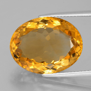 12.9ct Oval Facet Dark Orange-Gold Citrine Gem (ID: 397762)
